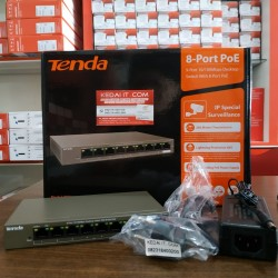 TENDA DESKTOP SWITCH 10/100Mbps TEF 1109P 8PORT POE