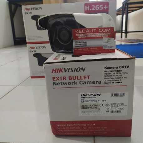 HIKVISION NETWORK CAMERA EXIR FIXED DS-2CD2T35FWD-I8 6MM