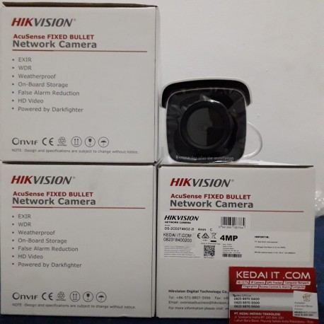 HIKVISION ACUSENSE FIXED BULLET NETWORK CAMERA DS-2CD2T46G2-2I 4MM